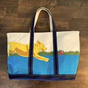 Rare Boat and Tote XL Thick Canvas Bag Dog Dock